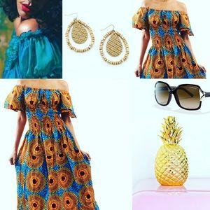Ghana Ankara Print Bohemian Summer dress